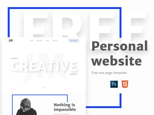 Personal - Free One Page Template