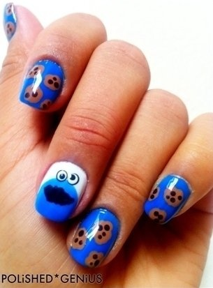 Sesame Street 'Cookie Monster' Nails