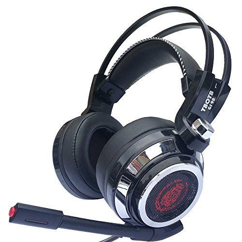 2017 headphone(warranty included) CCsky Gaming Headset for PS4 Playstation 4 PC Xbox One Laptop Mac Nintendo Switch PC Games, Noise Isolation/ LED Light/ Bass Surround Stereo/Soft Memory Earmuffs