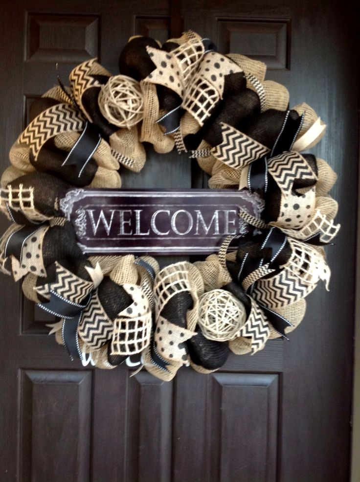 Welcome Wreath By J.Wolfe/Brown Door Wreaths and more.