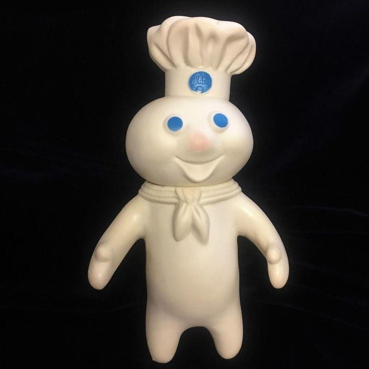 1971 Vintage Pillsbury Dough Boy Poppin Fresh 7-Inch Rubber Doll #Pillsbury