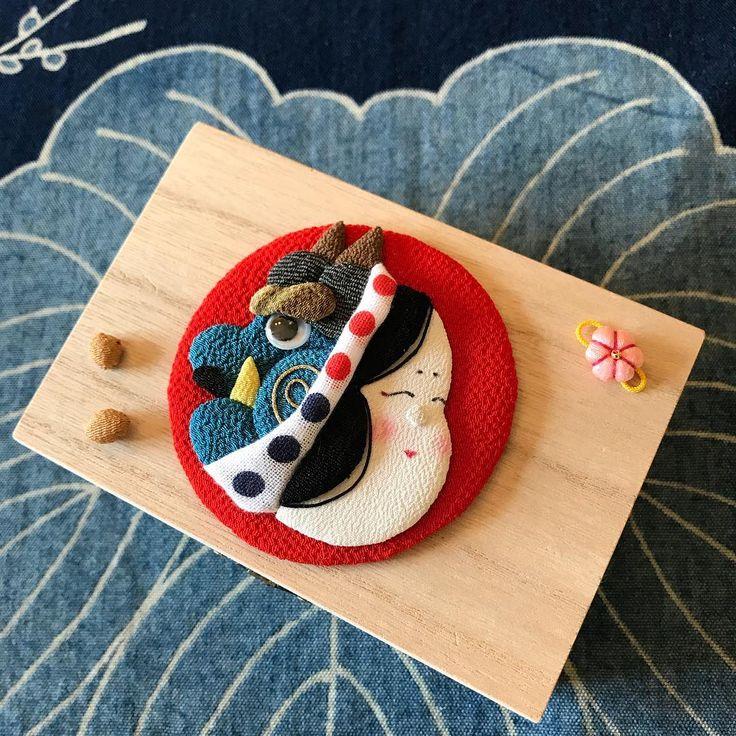 【#節分 】 ちょっと…いや、だいぶん早いですがw 節分の押絵 昨日は新しい手帳も買って、いよいよ新しい年が見えてきました。年末に近づくにつれて、バタバタとして、顔が鬼にならないようにしたいですね。笑笑 深呼吸〜〜(⊃´-`⊂)笑って笑って . . . #artwork #japanesestyle #手作り #ハンドメイド #和 #和風 #和小物 #和雑貨 #古布 #ちりめん #押絵 #押し絵 #鬼 #お福さん #お多福 #季節を楽しむ #豆まき #笑顔