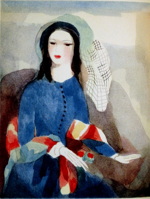 Marie Laurencin (This portrait made me feel lonely & sad. I feel like she's got her hand on the seat next to her as if to save it for her love, who doesn't seem to be anywhere around...)