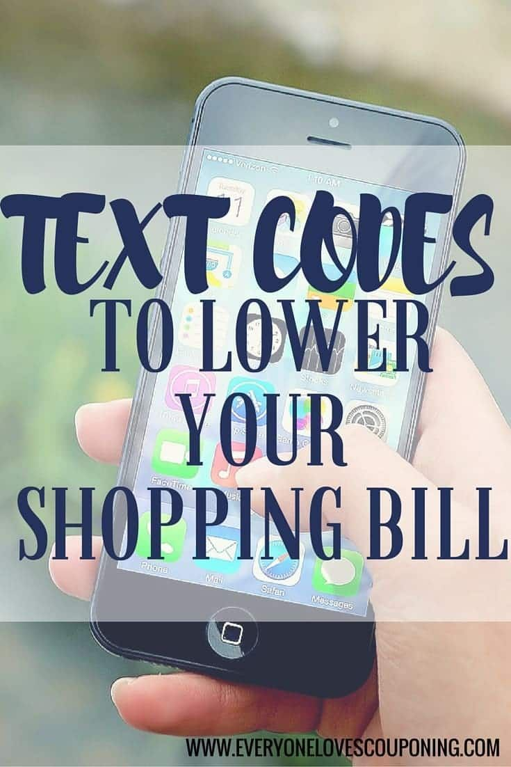 45 Text Codes to Lower Your Shopping Bill