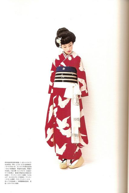 Kimono-hime issue 7. Fashion shoot page 5, via Flickr.