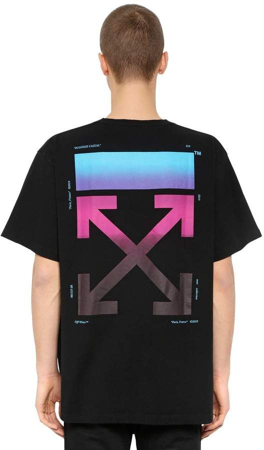 97d27678 Oversized Gradient Arrows Jersey T-Shirt #Cut#prints#Crewneck | Off ...