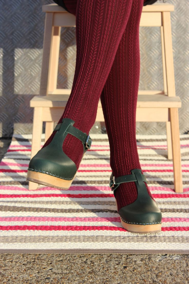 T-bar clog in forest green Lotta From Stockholm                                                                                                                                                                                 More