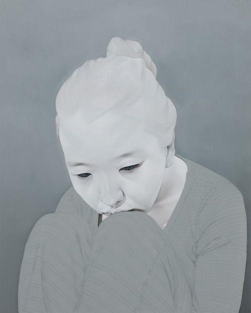 """Sungsoo Kim Paintings (oil, acrylics on canvas). """"Melancholy"""""""