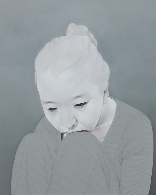"Sungsoo Kim Paintings (oil, acrylics on canvas). ""Melancholy"""