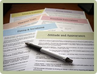 Teen Behavior Contracts:  Driving, Socializing, Cell Phone Usage, Dating, Attitude, Character, School, and much more!