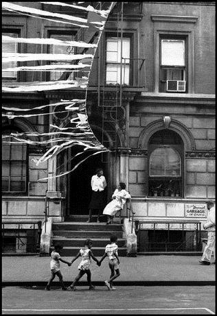 LEONARD FREED -     Harlem Street Party,     1963