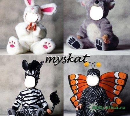 Шаблоны для фотошопа детские костюмы