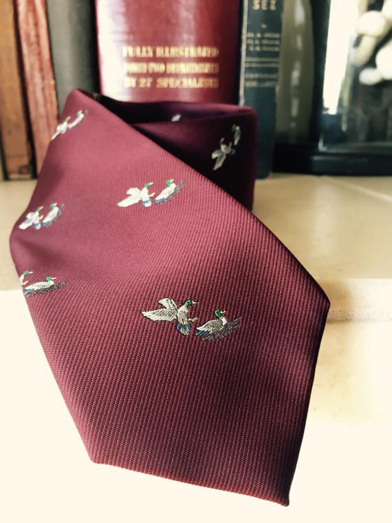 Vintage Mallard Duck Tie by Briar for The Rusty Nail by Digsby