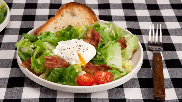 Bistro Salad with Poached Eggs