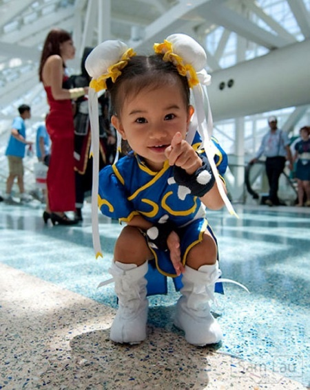 So cute -- comic con costume for kids