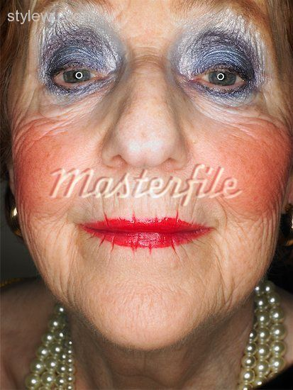 deep old age crease with 80's inspired/ vegas prostitution makeup