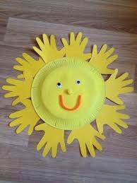 Mit Kindern im Frühling basteln: Gelbe Sonne aus einem Pappteller #diy