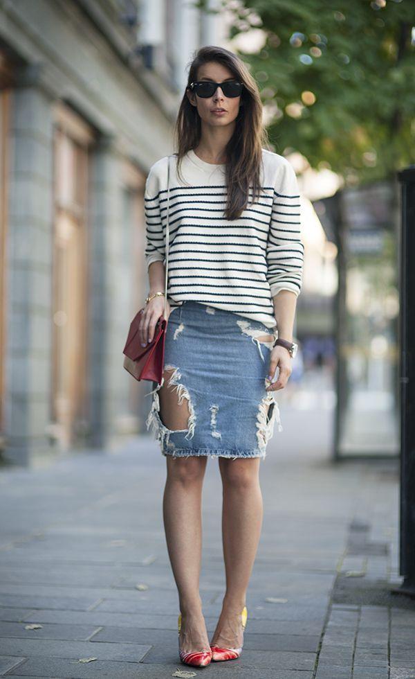 125 best Denim - Skirts images on Pinterest