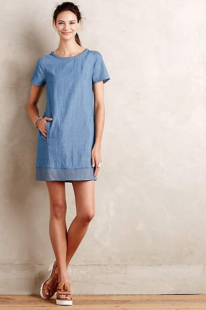 Braided Chambray Tunic Dress - #anthrofave