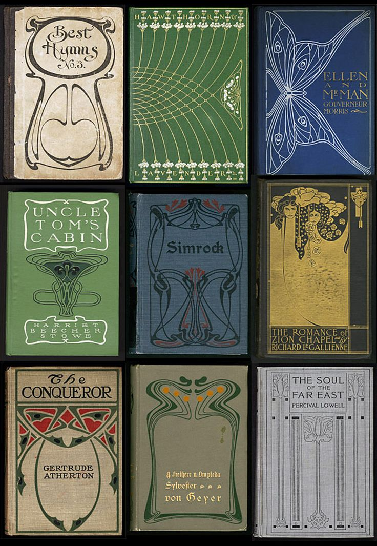 art nouveau book covers - publishers bindings online, university of wisconsin