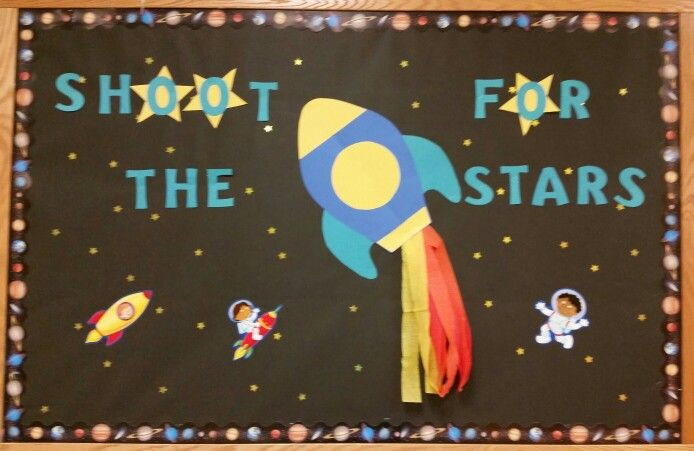 Shoot for the Stars Space Rocket Bulletin Board