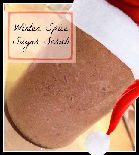 winter spice sugar scrub