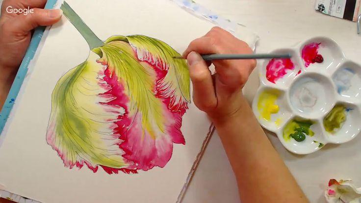 LIVE! Parrot Tulip in Watercolor 12:30pm ET