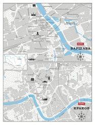 Краков и Варшава - карта основных достопримечательностей