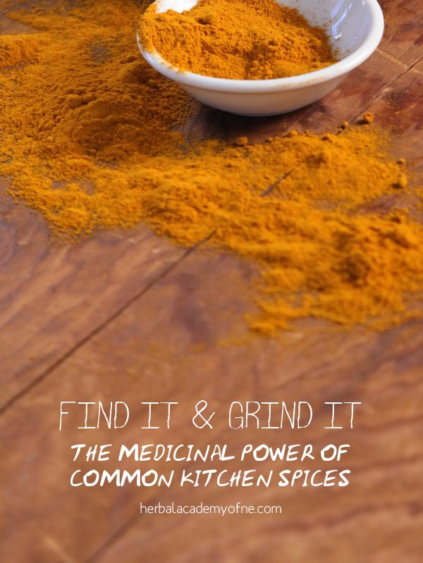"The Medicinal Power of Common Kitchen Spices – Here are my 5 ""Top Guns"" in my spice rack, how to use them, and why you should have them too."