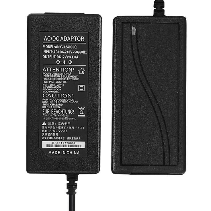 NIUKETAT DC 12V 4A 12V4A LED light power adapter LED Power Supply Adapter drive for 5050 3528 2835 LED Light not with line
