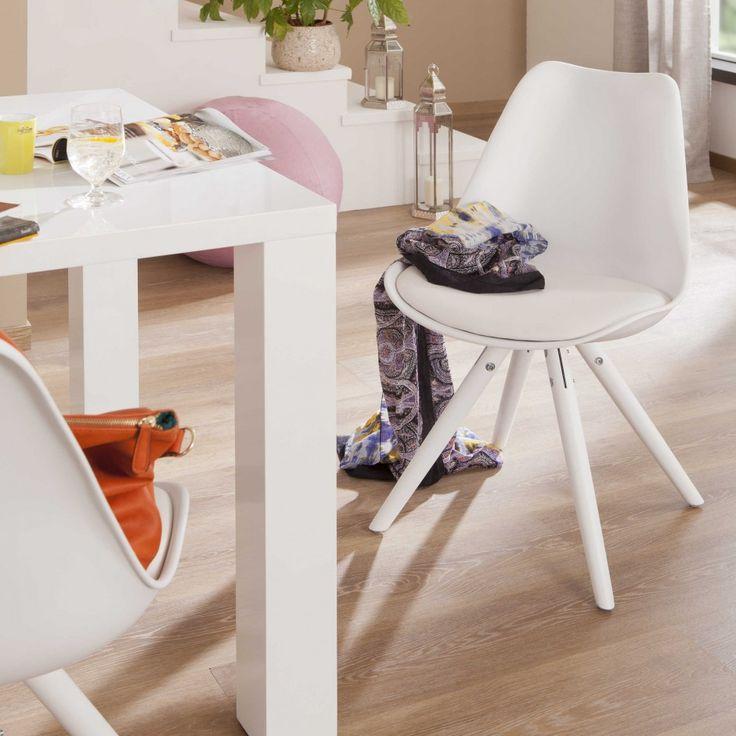 Stuhl Foggia 2er Set, Weiß   4 Fuß Stühle   Stühle U0026 Freischwinger    Esszimmer