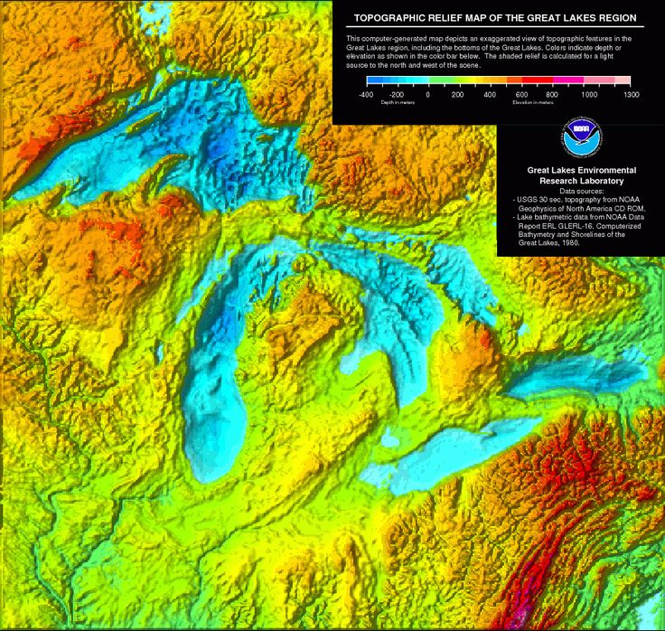 michigan topographic map Google Search Map of michigan