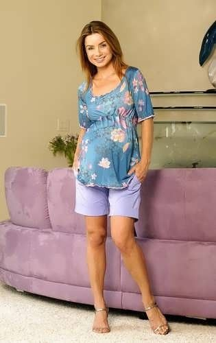 Lavender Cuffed Materntiy Short from LadyMaternity.com  Now on clearance Great maternity short, that looks great with any one of our maternity tops     Great deal and a definate must for any maternity wardrobe