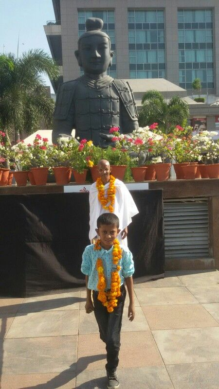 Gandhi With Buddha