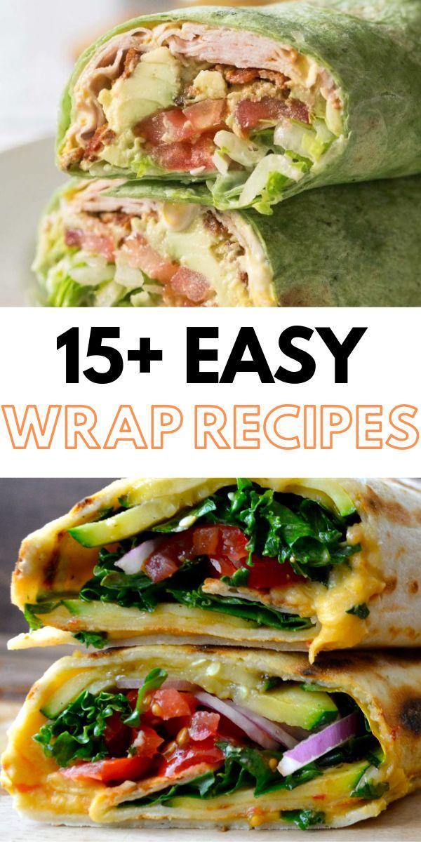 Gesunde Wrap-Rezepte, perfekt für ein einfaches Mittagessen!    – mostly healthy food…