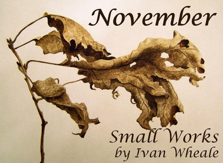 Invitation to 'Small Works' by Ivan Wheale. November 2015 at Artists on Elgin.