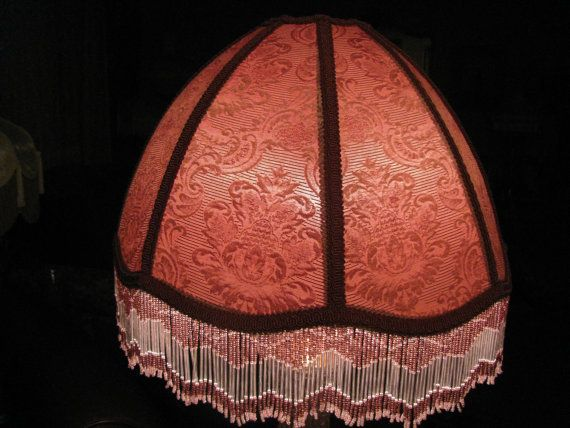 The 25 best large lamp shades ideas on pinterest large lamps victorian french large lamp shade rosa glass bead fringe 2 available free greentooth Image collections