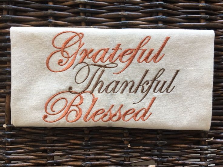 Grateful, Thankful, Blessed fall towel perfect for fall decorating or Thanksgiving hostess gift! https://www.etsy.com/listing/474228039/fall-kitchen-towel-thanksgiving-decor