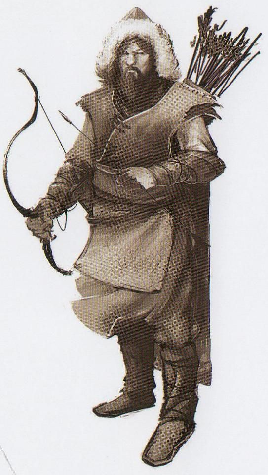Qualan Gal (The Male Mongolian Assassin) ~ He used a 'Bow & Arrow' to shoot Ghegis Khan's horse.