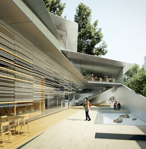 隈研吾建築都市設計事務所:アルベールカーン美術館・庭園設計競技当選