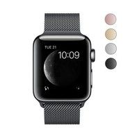 Wish | Latest  Stainless Steel Mesh Milanese Loop with Adjustable Magnetic Closure Replacement Band Case for Apple Watch Series 2 Series 1 and Edition 38mm 42mm