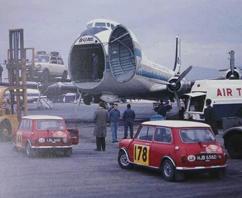 1967 Monte Carlo cars leaving Nice airport