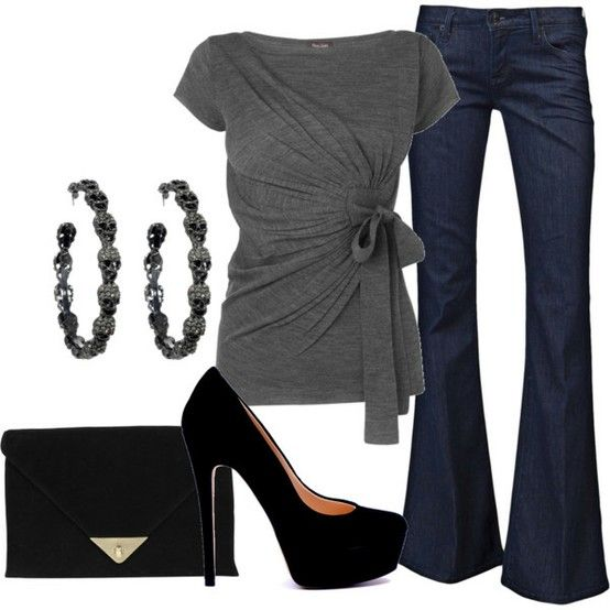 My Style: Shoes, Fashion, Style, Clothing, Shirts, Jeans, Heels, Earrings, Date Night Outfits