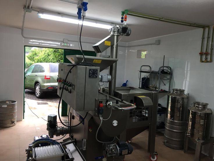 Olimio Gold 100 kg/hora + Lavadora Sopladora Elevadora DLE MINI instalado en Almazara José Antonio Acosta (Tacoronte - Tenerife)
