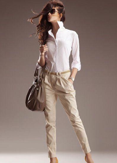 Pantalon beige femme carotte Taille Basse SD01 Nife 36 38 40 42 44 #Autrespantalons