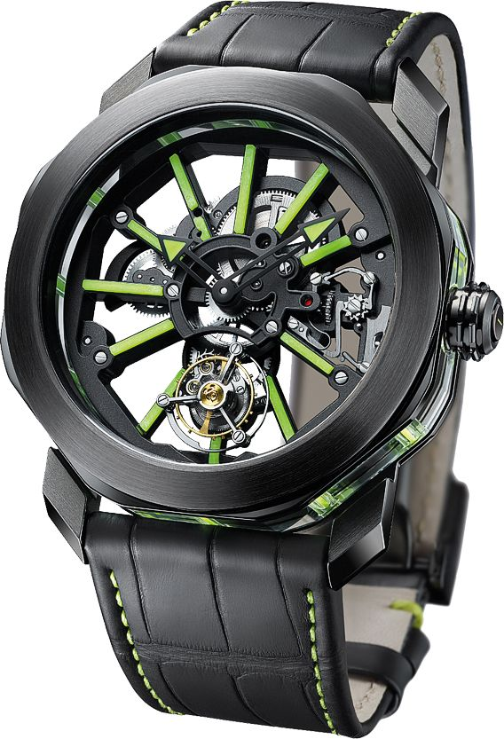 Bulgari Octo Tourbillon Sapphire watch - angleview - Perpetuelle