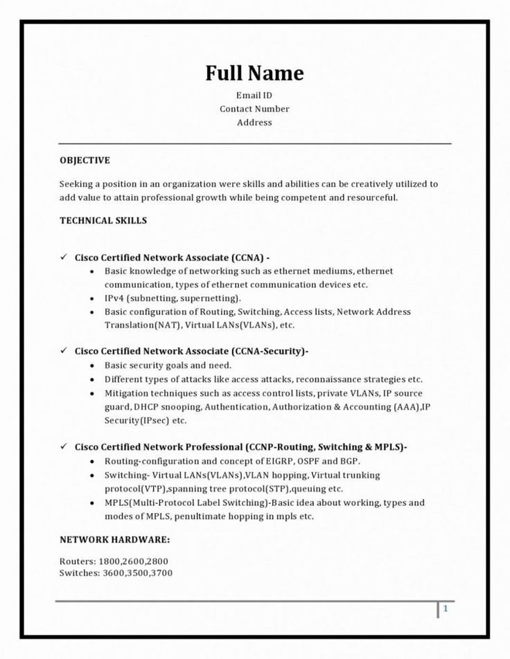 3 Page Resume Format For Freshers , ResumeFormat Resume