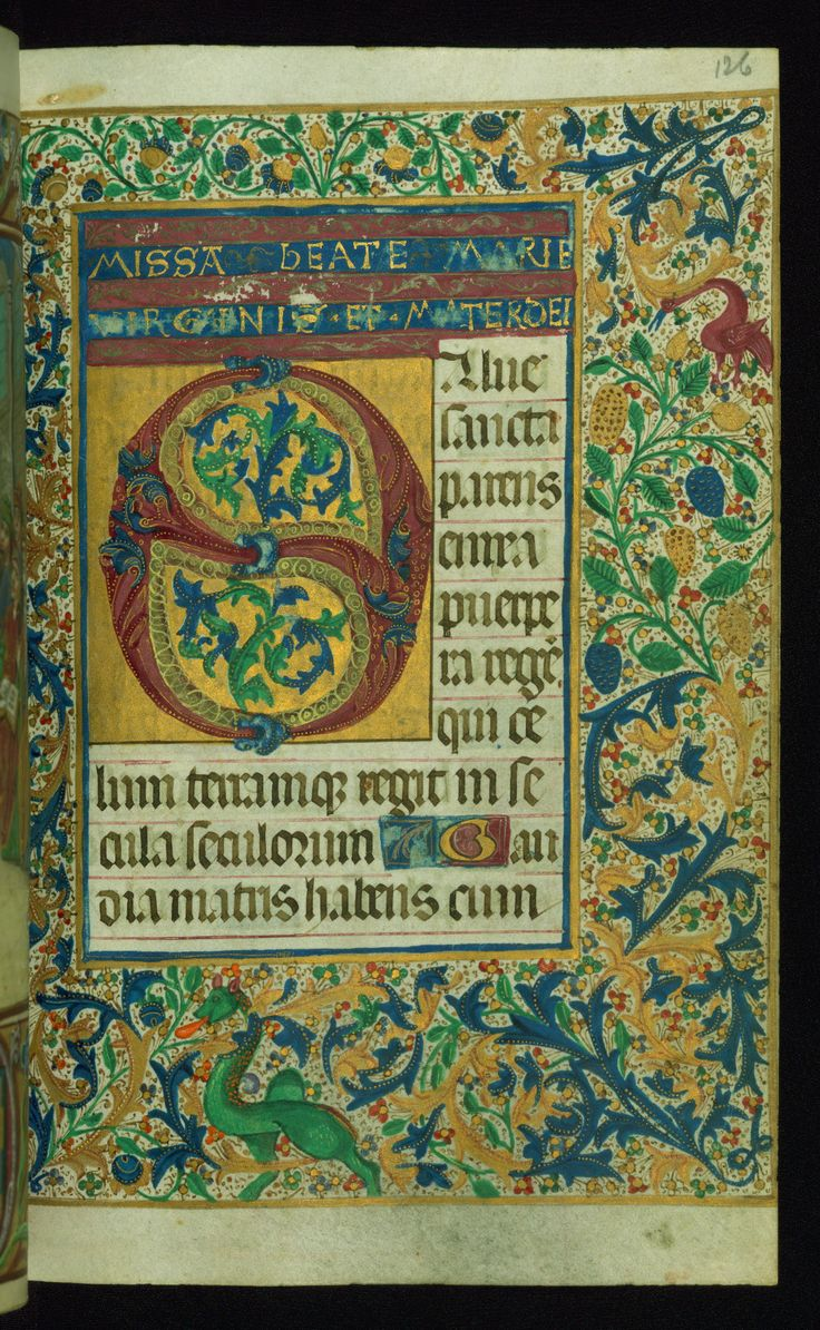 http://www.thedigitalwalters.org/ This book of hours was produced ca. 1510-1520 for a member of the Catalonian Almugavar (or Almogàver) family, whose coat of arms appears throughout the manuscript in the borders of the lavish full-page miniatures. A significant number of feast days associated with Barcelona help reinforce the Spanish attribution of the manuscript, although the style of the decoration is clearly influenced by contemporary Flemish design.