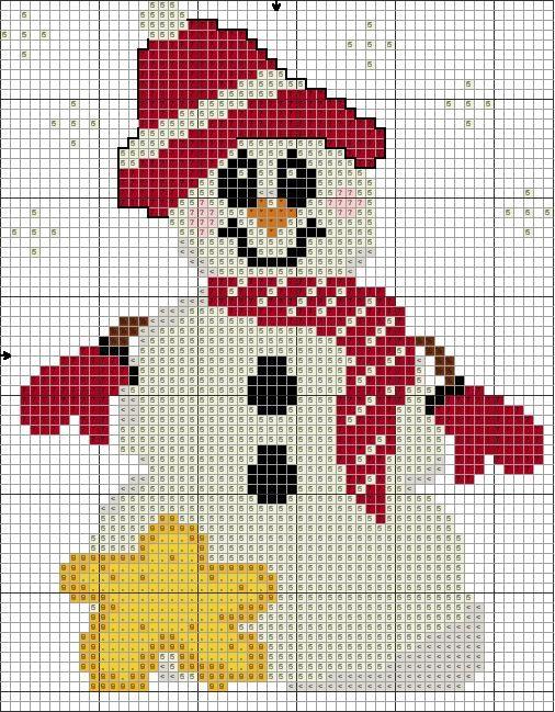 Free Snowman And Star Cross Stitch Chart