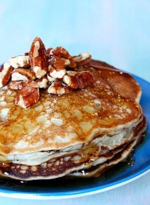 Banana- Pecan Pancakes #recipe